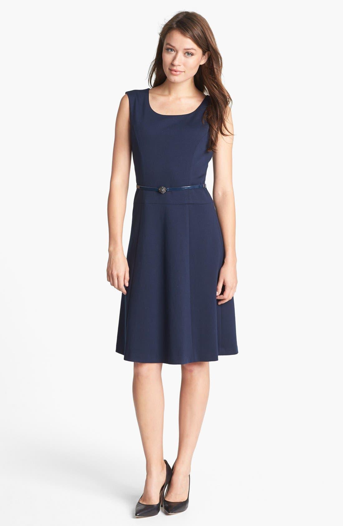 Alternate Image 1 Selected - Anne Klein Belted Fit & Flare Dress