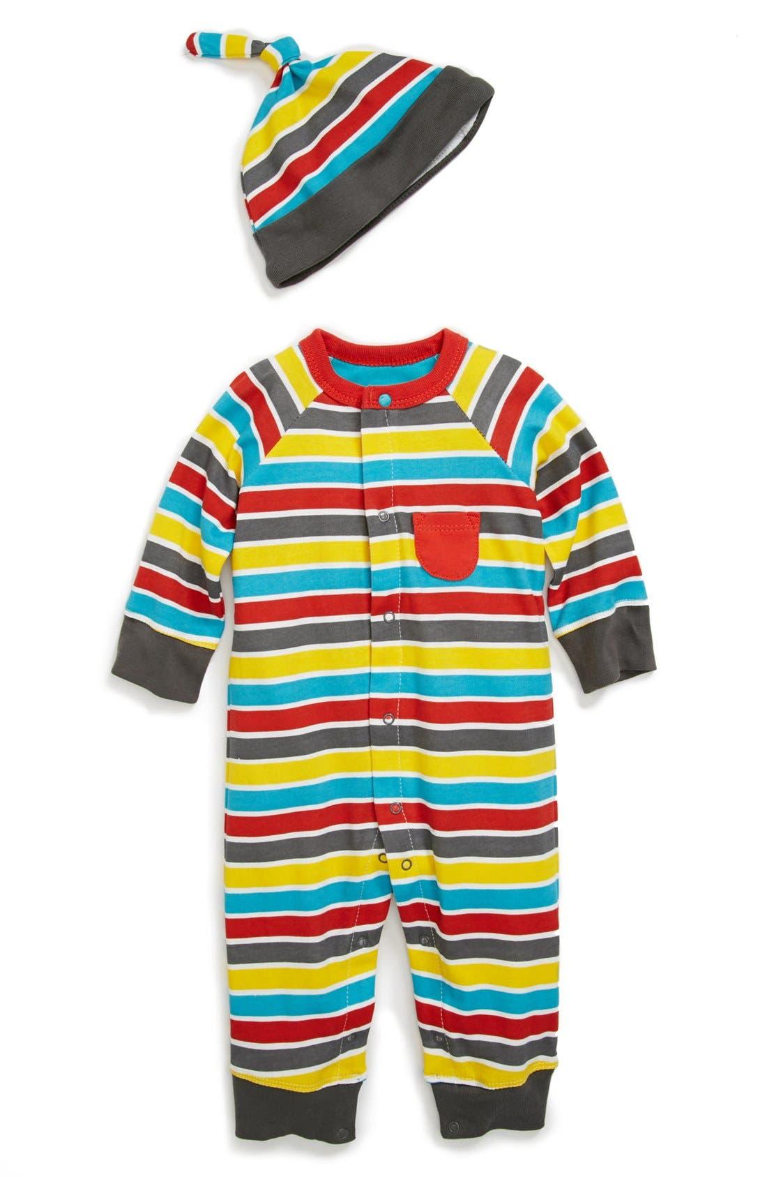 Alternate Image 1 Selected - Offspring 'Motorway' Romper (Baby Boys)