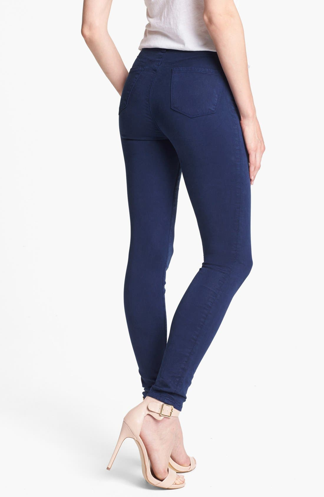 Alternate Image 2  - J Brand 'Maria 2311' High Rise Skinny Jeans (Blueberry)