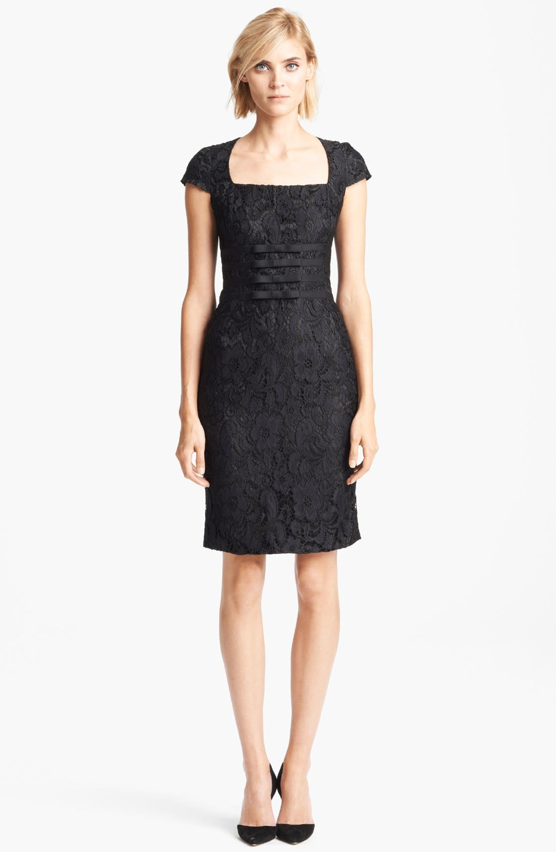 Alternate Image 1 Selected - Moschino Cheap & Chic Bow Detail Lace Dress