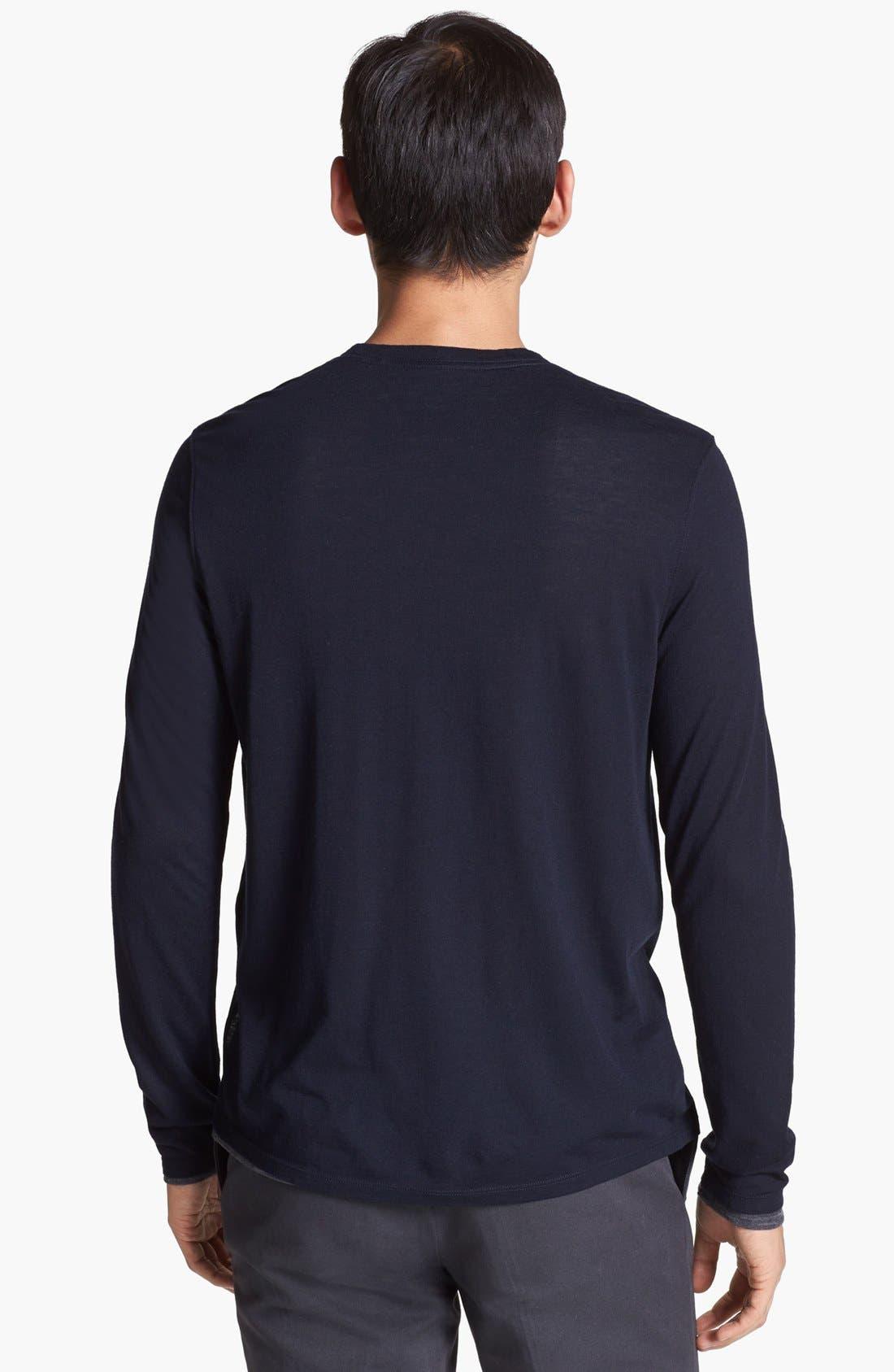 Alternate Image 2  - Vince Double Layer Reversible Crewneck T-Shirt