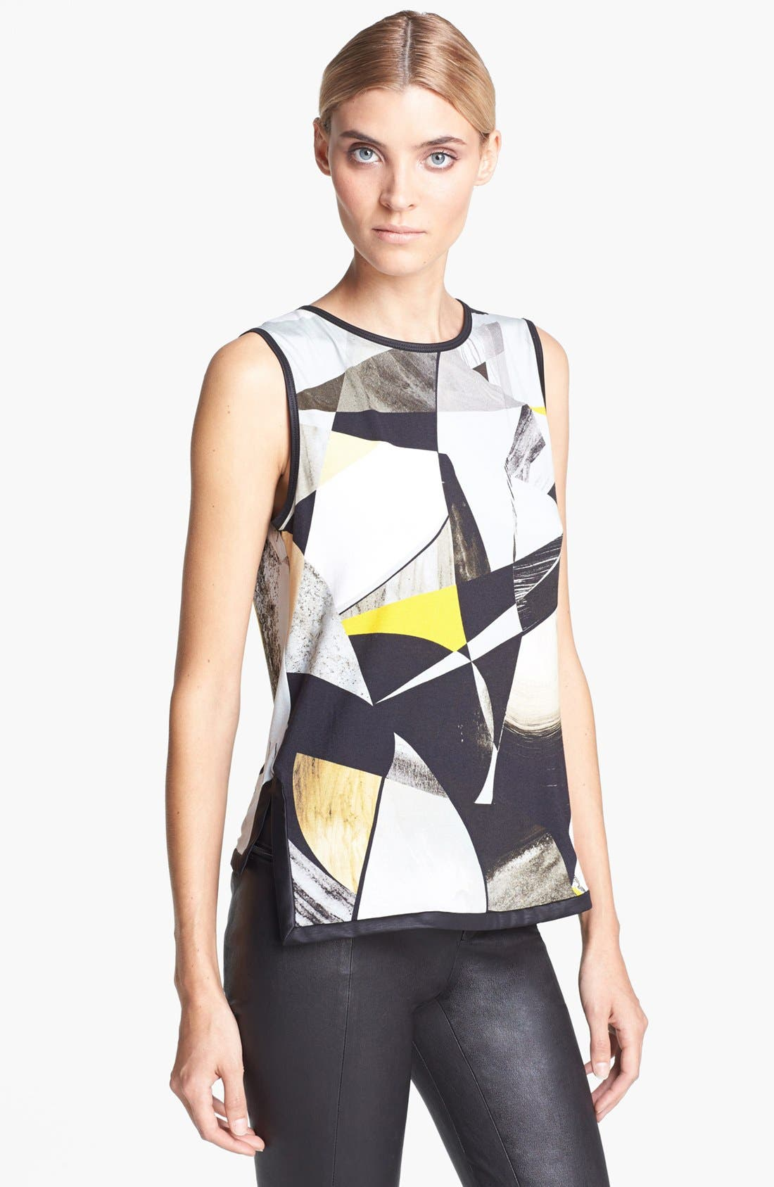 Alternate Image 1 Selected - Helmut Lang Print Jersey Top