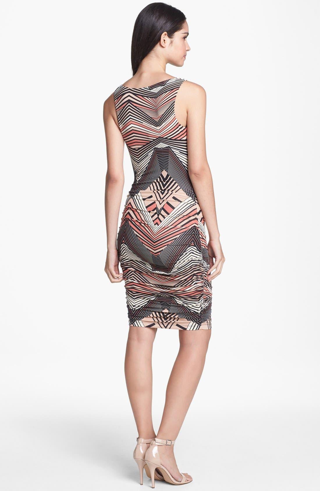 Alternate Image 2  - Tart 'Suki' Print Shirred Jersey Dress