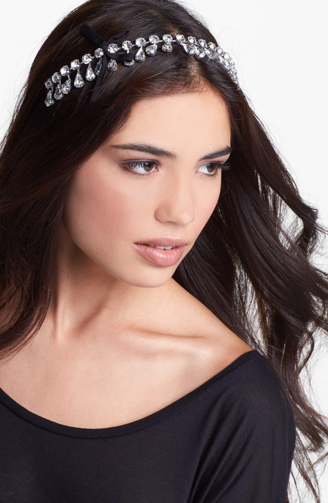 Main Image - Cara Teardrop Tiara Headband