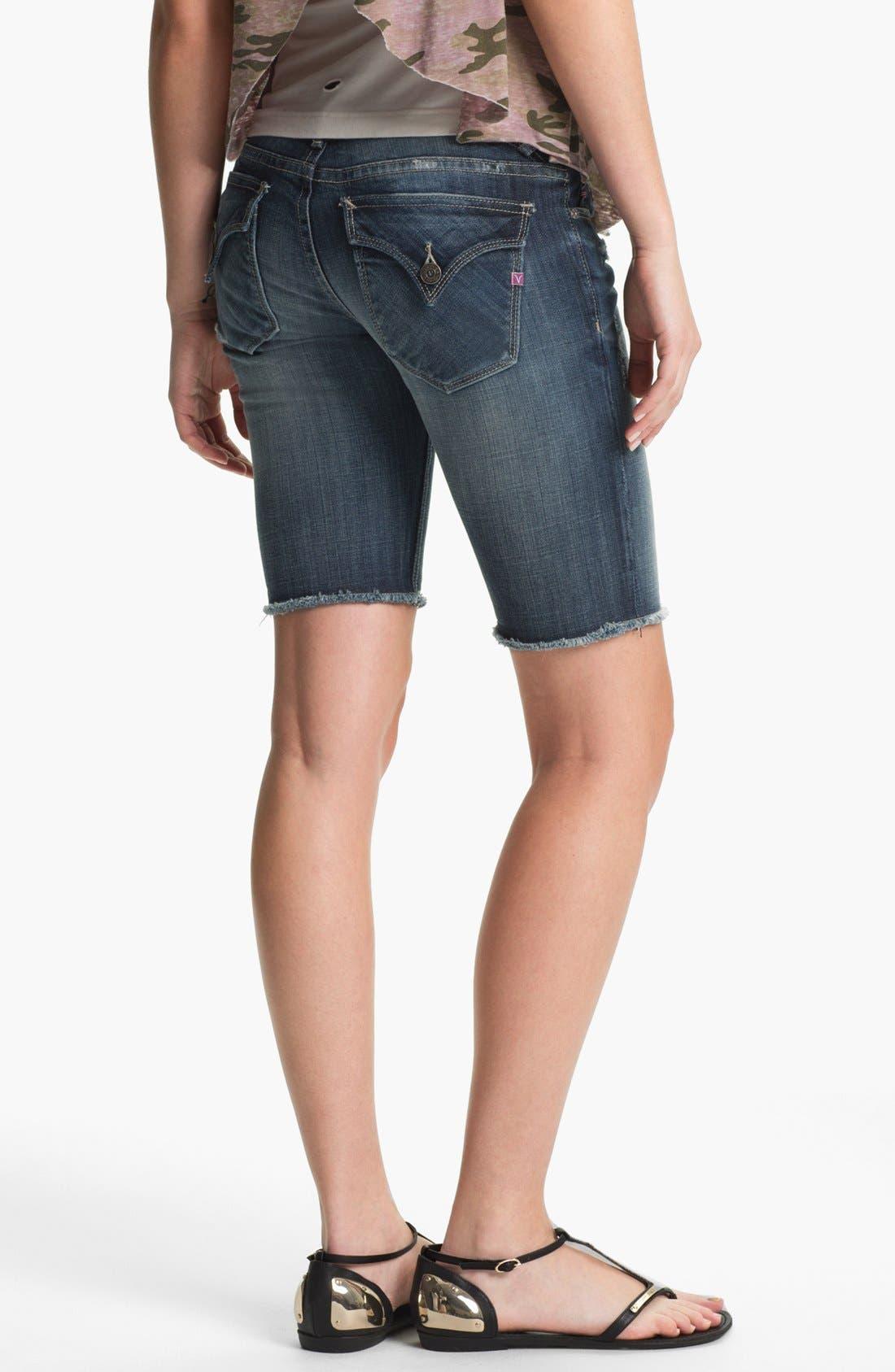 Alternate Image 2  - Vigoss 'New York' Cutoff Denim Bermuda Shorts (Juniors)