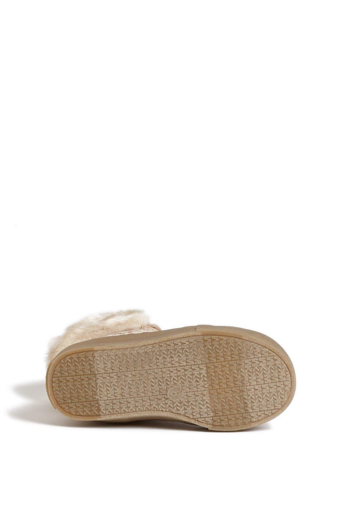 Alternate Image 4  - MICHAEL Michael Kors 'Ivy' Faux Fur High Top Sneaker (Little Kid)