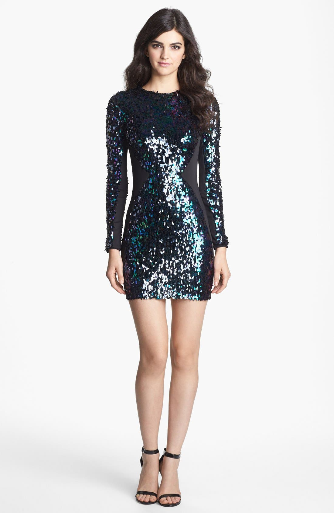 Alternate Image 3  - Dress the Population 'Ryan' Sequin Body-Con Minidress