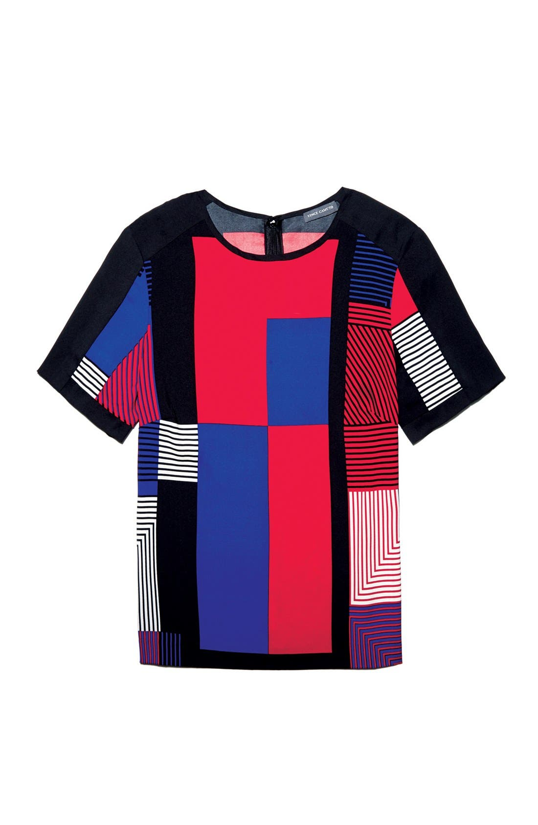 Alternate Image 6  - Vince Camuto Patchwork Colorblock Woven Top