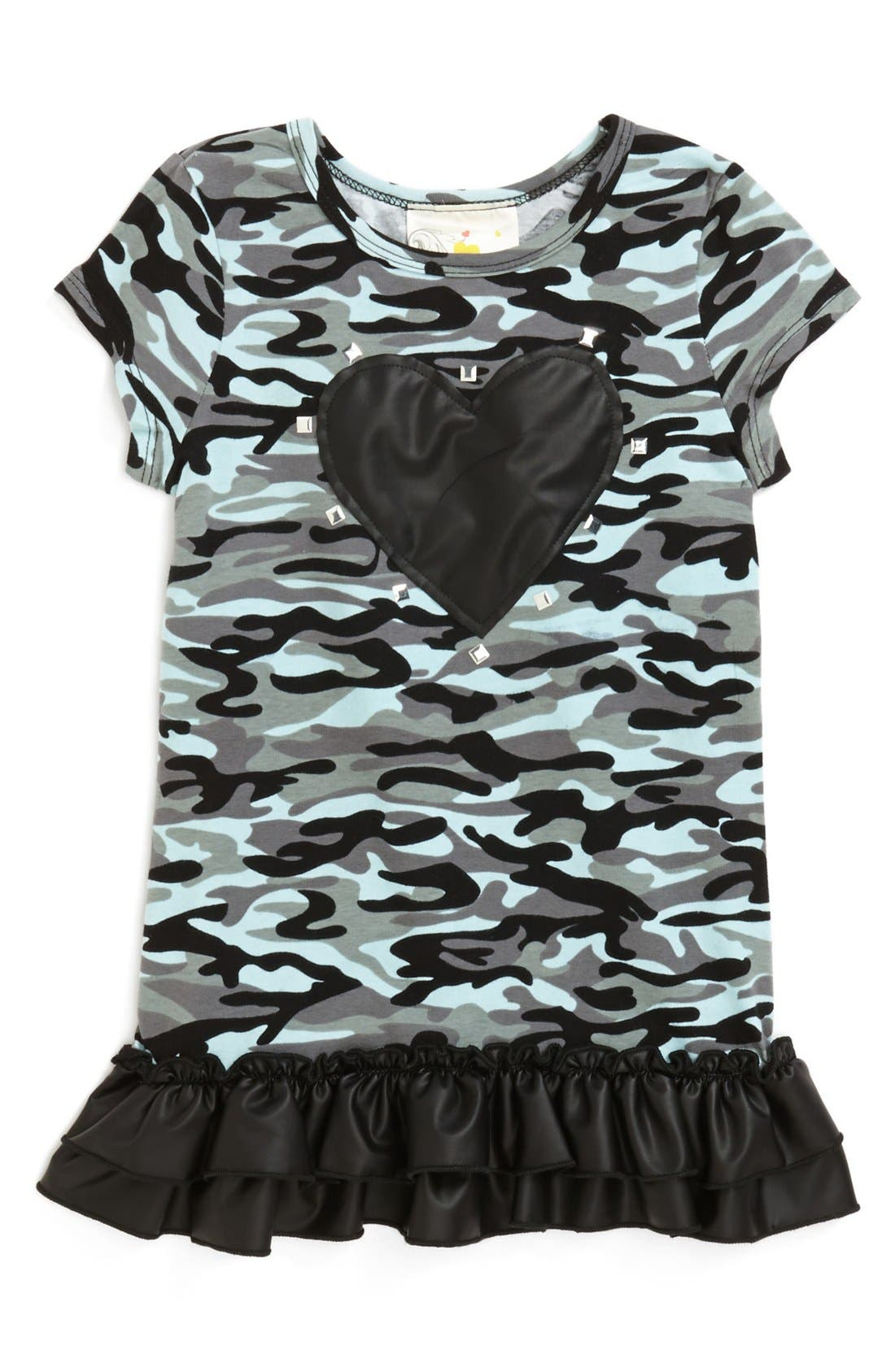 Alternate Image 1 Selected - Jenna & Jessie Camo Print Tee (Little Girls)