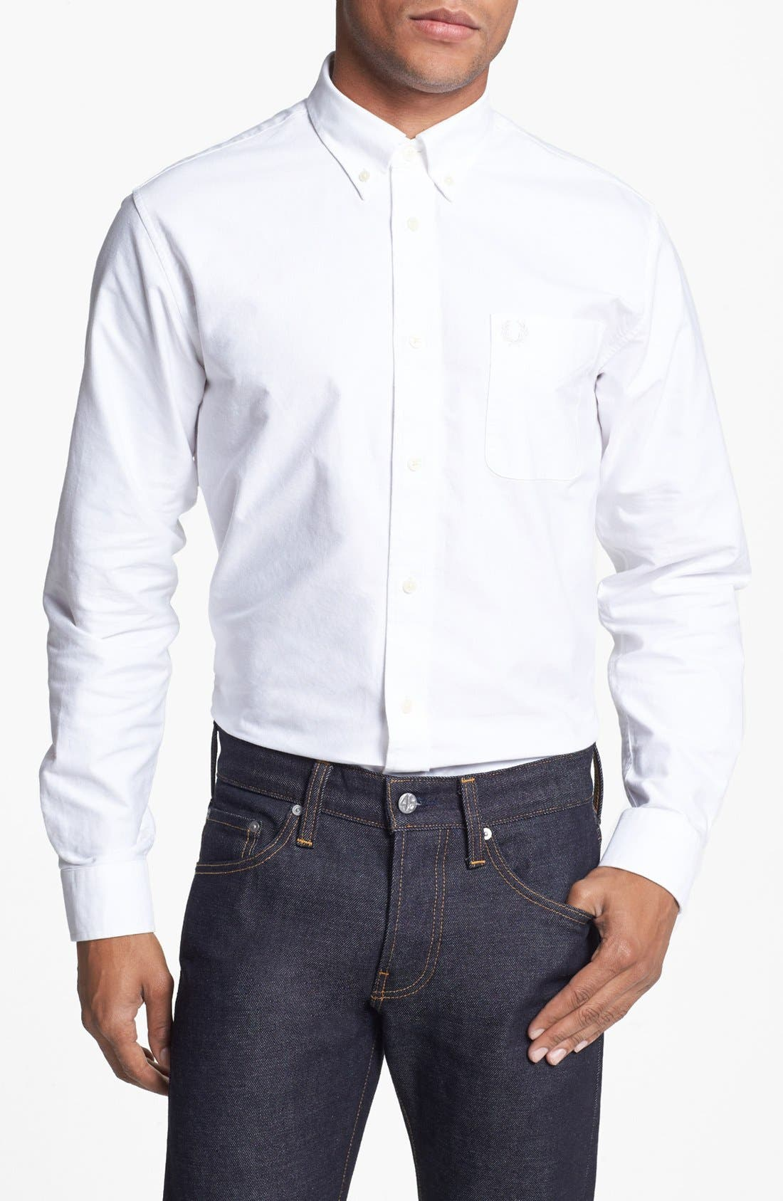 Alternate Image 1 Selected - Fred Perry Extra Trim Fit Oxford Sport Shirt