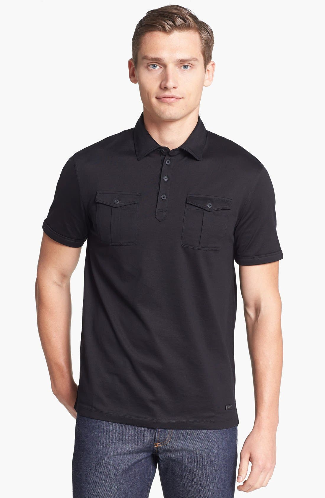 Alternate Image 1 Selected - Burberry London 'Ashmere' Military Polo