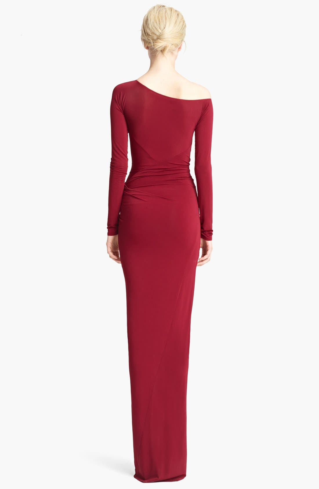 Alternate Image 3  - Donna Karan Collection Long Sleeve Draped Gown