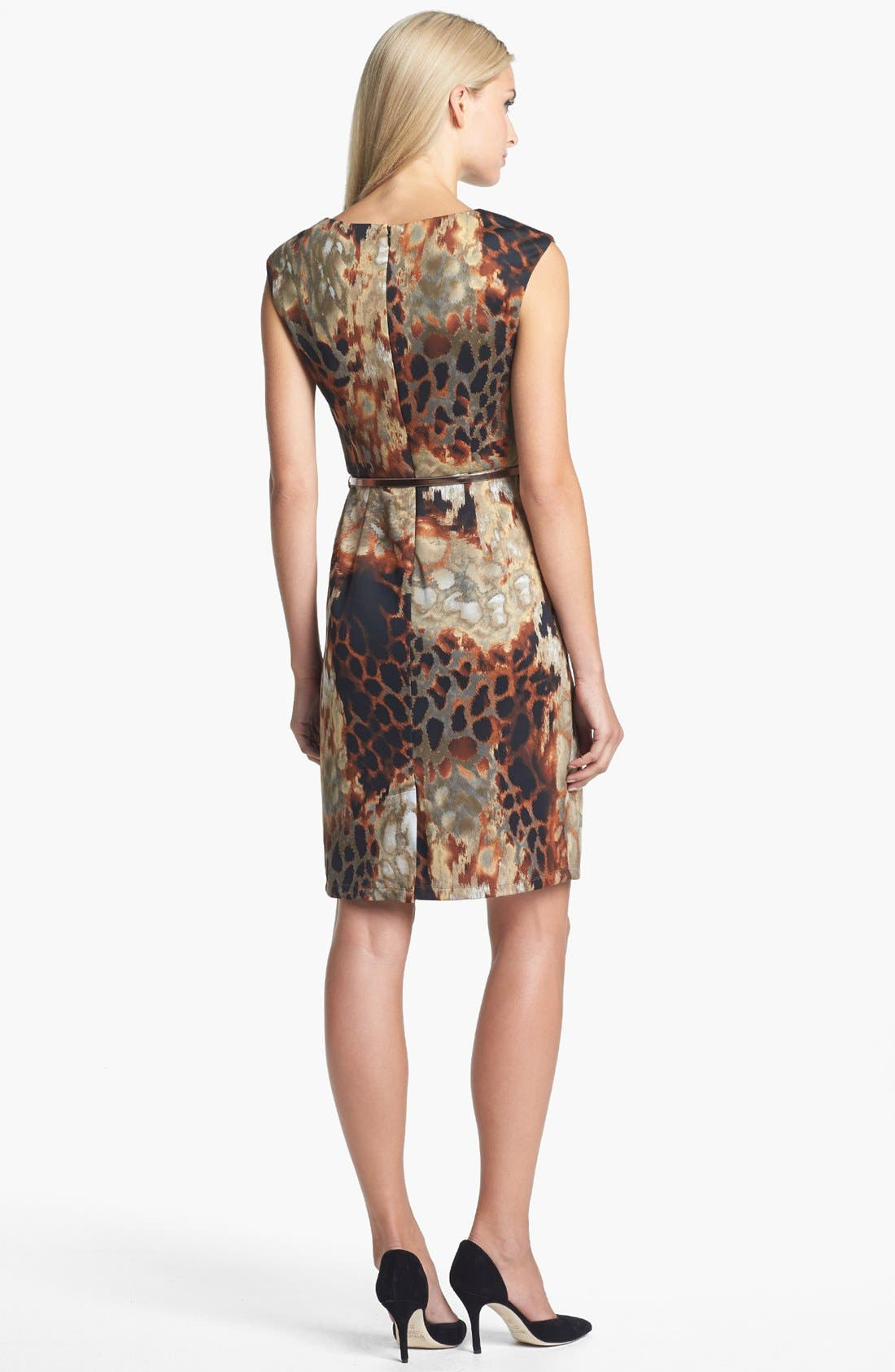 Alternate Image 2  - Ellen Tracy Print Scuba Knit Sheath Dress