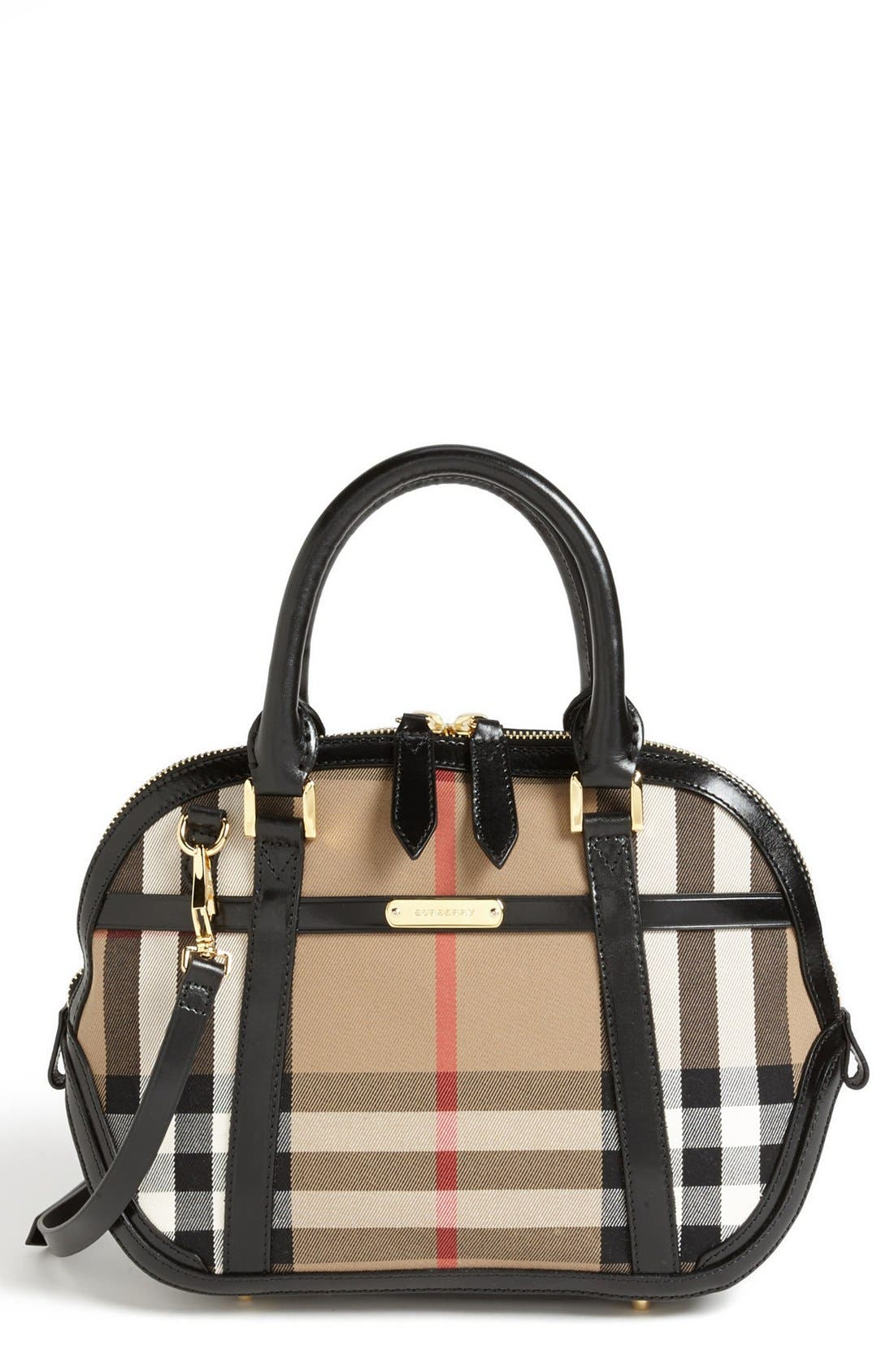 Alternate Image 1 Selected - Burberry 'House Check' Crossbody Satchel