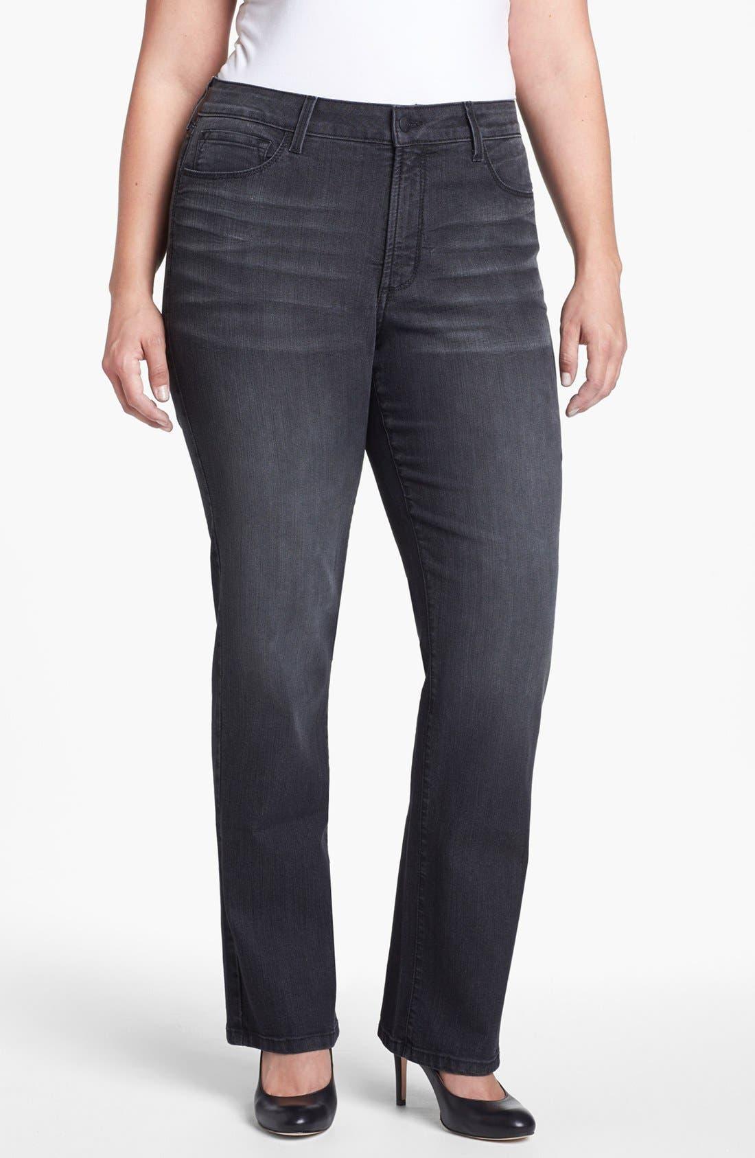 Alternate Image 1 Selected - NYDJ 'Marilyn' Straight Leg Jeans (Plus Size)