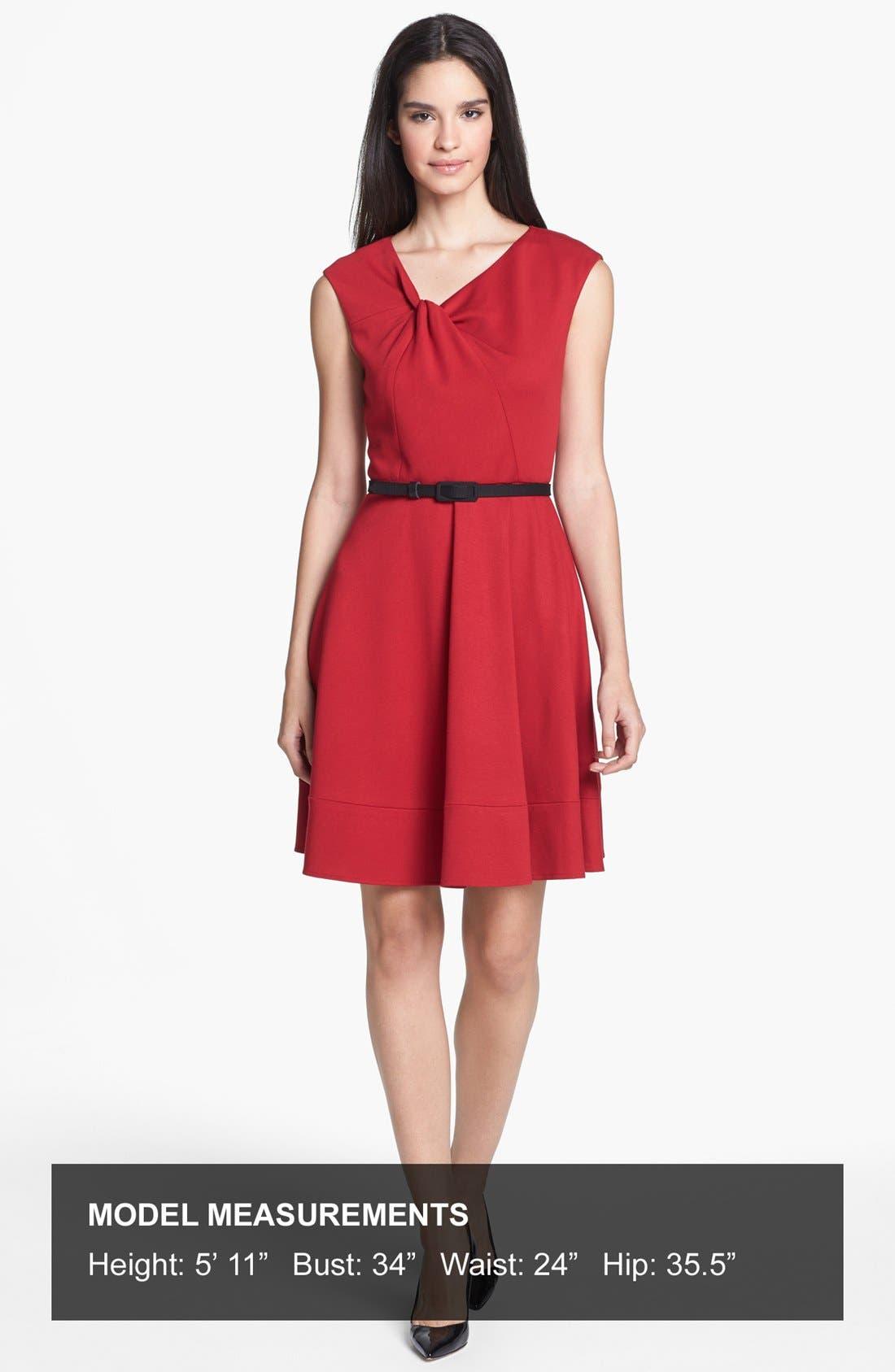 Alternate Image 4  - Eliza J Twist Neck Fit & Flare Dress
