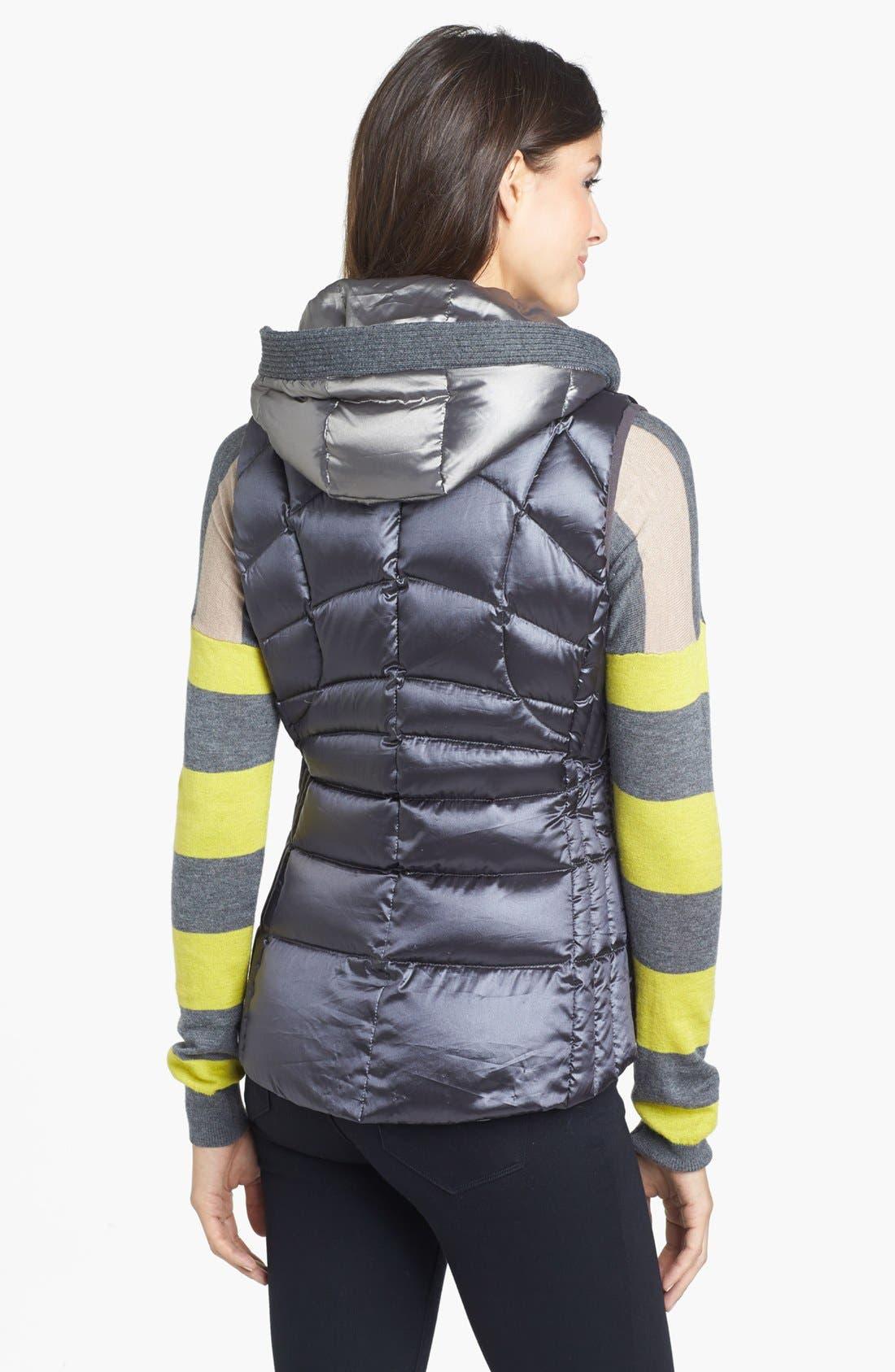 Alternate Image 2  - Bernardo Hooded Insert Goose Down Vest (Regular & Petite)