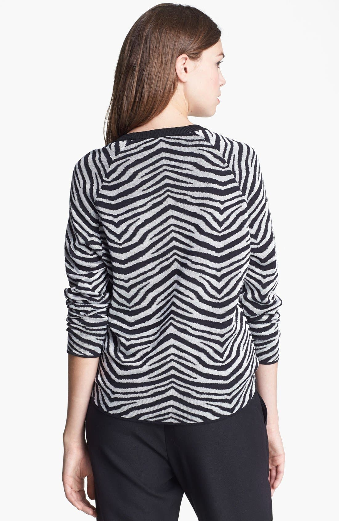 Alternate Image 2  - Vince Camuto Zebra Stripe Top (Regular & Petite)