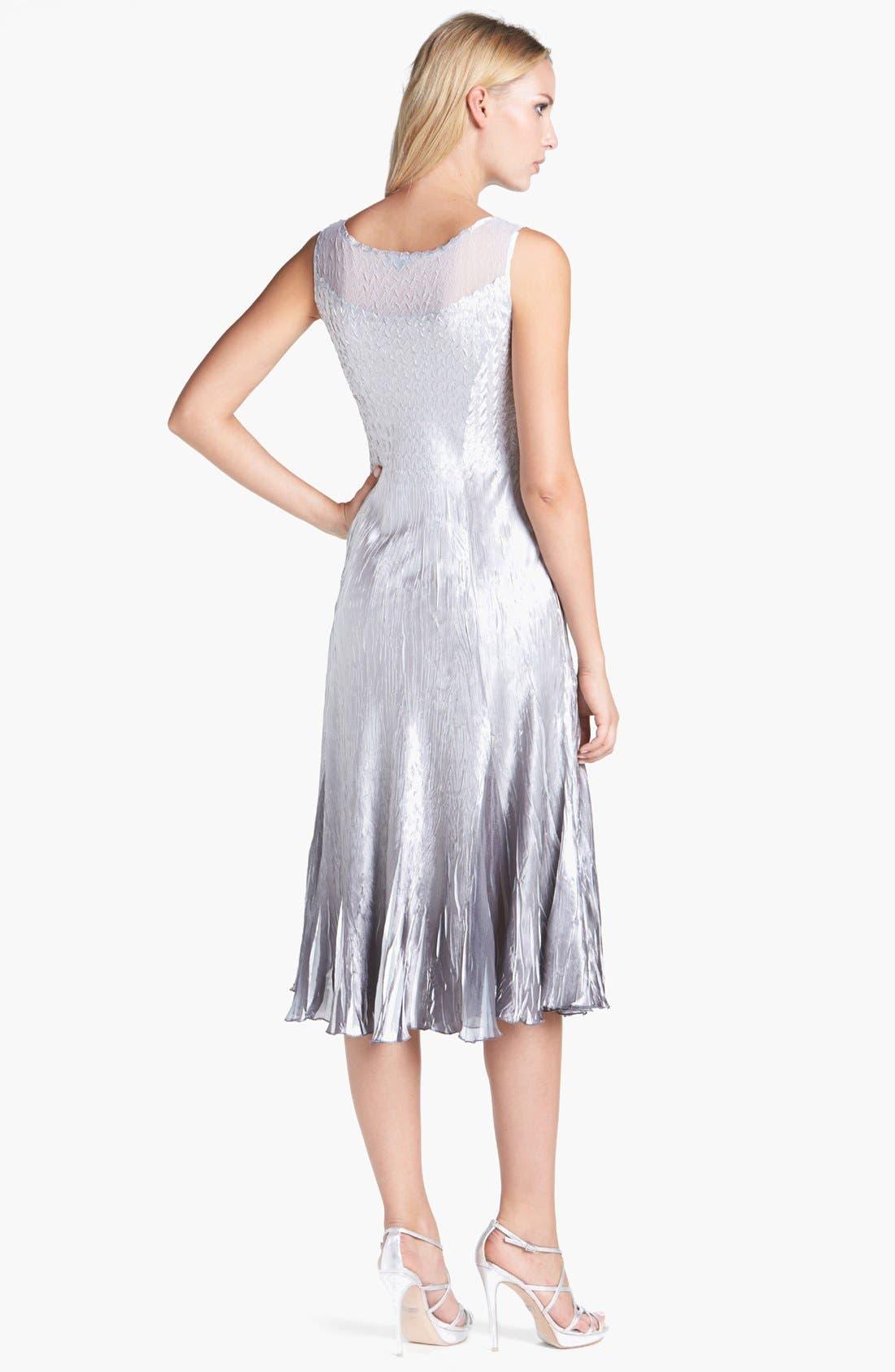 Alternate Image 2  - Komarov Pleated Charmeuse Dress & Chiffon Jacket