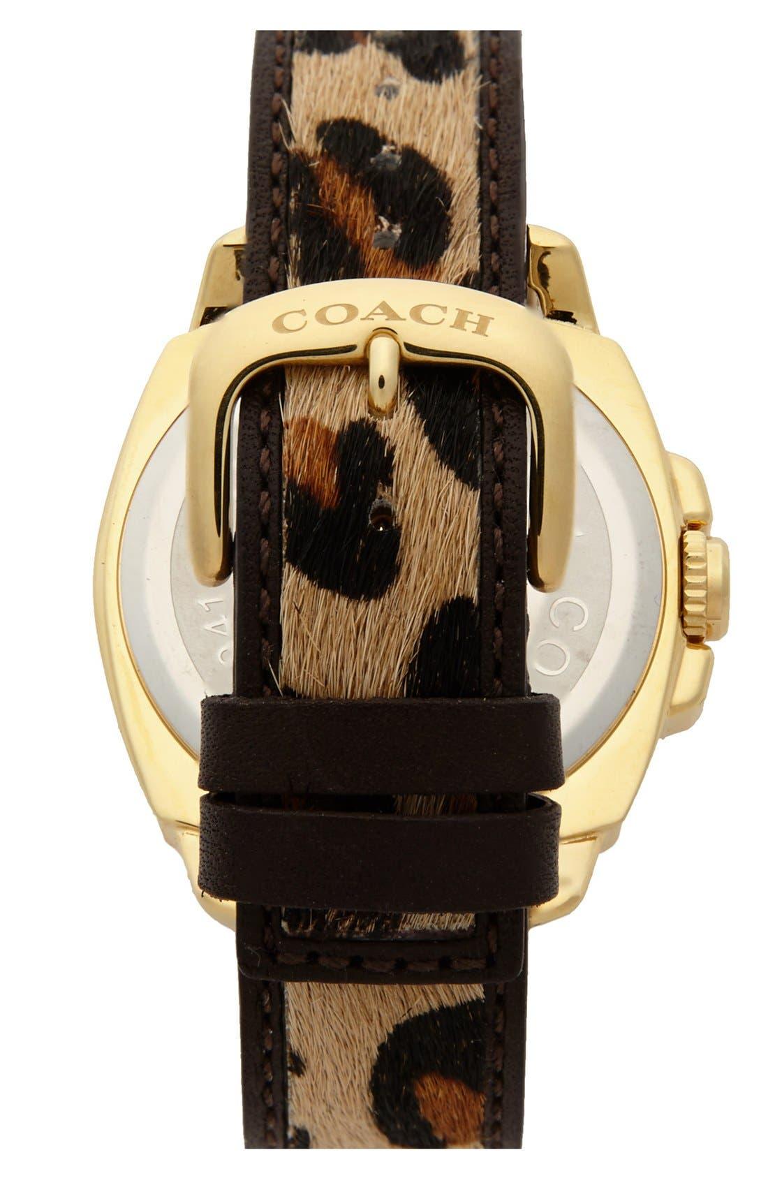 Alternate Image 2  - COACH 'Boyfriend' Calf Hair Strap Watch, 40mm