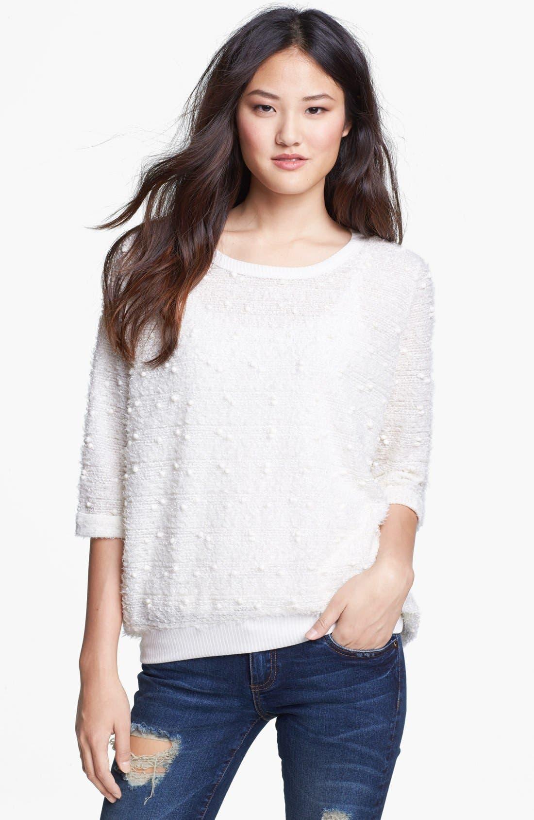 Alternate Image 1 Selected - Bobeau Textured Knit Sweater