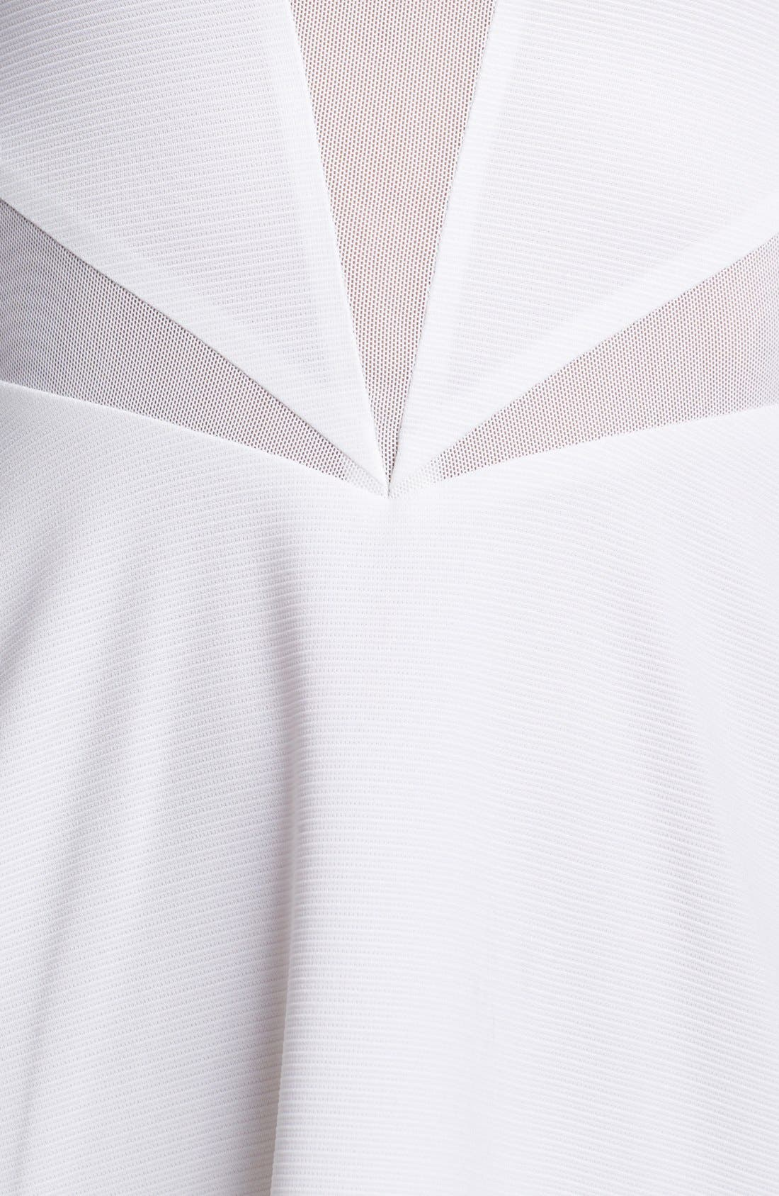 Alternate Image 3  - Lucca Couture Mesh Inset Skater Dress