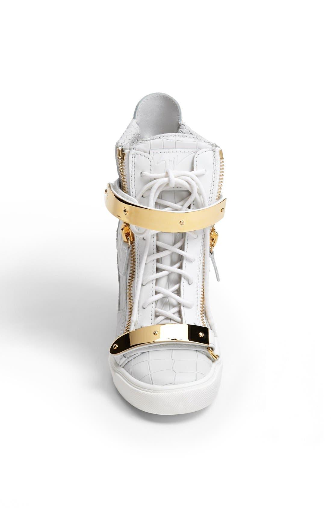 Alternate Image 3  - Giuseppe Zanotti 'Lorenz' High Top Wedge Sneaker