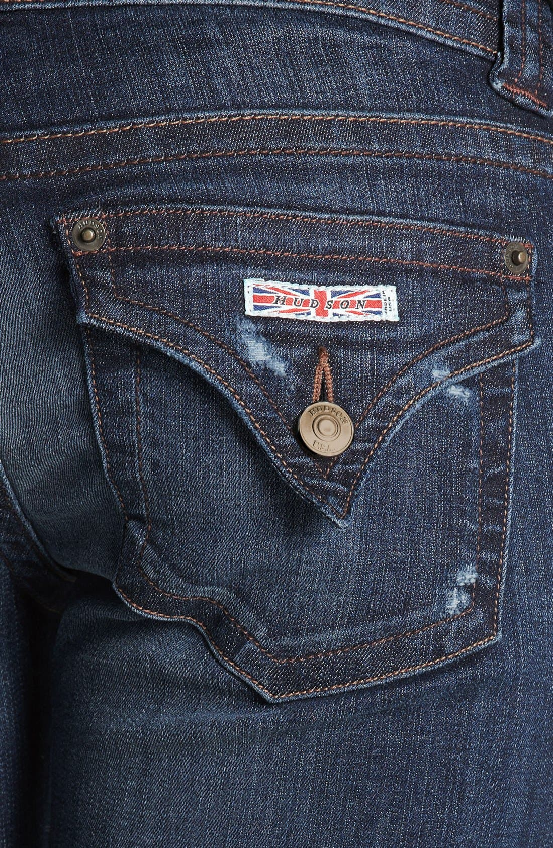 Alternate Image 3  - Hudson Jeans Distressed Signature Bootcut Jeans (Escape)
