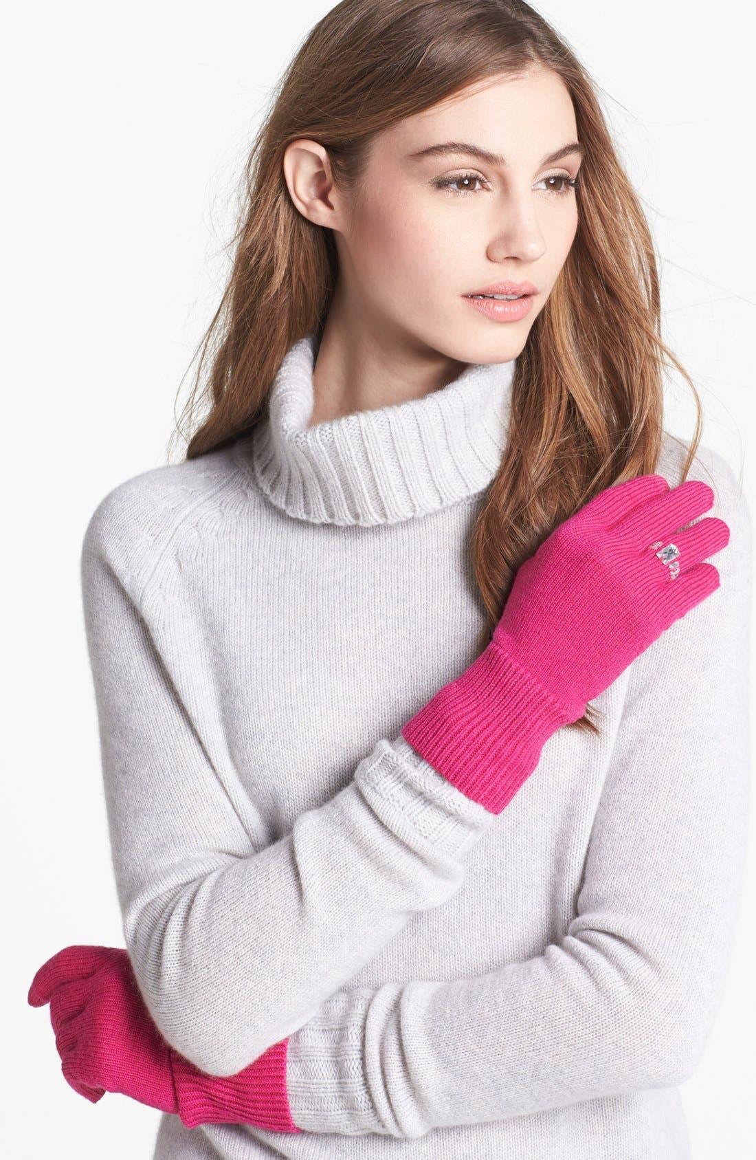Main Image - kate spade new york 'ring' wool blend gloves
