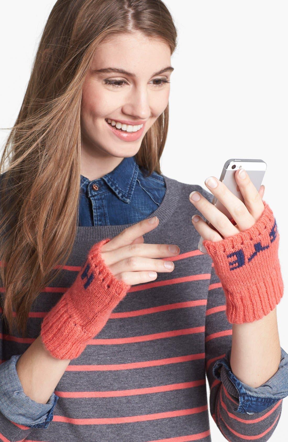 Alternate Image 1 Selected - BCBGeneration 'Hi/Bye' Fingerless Gloves