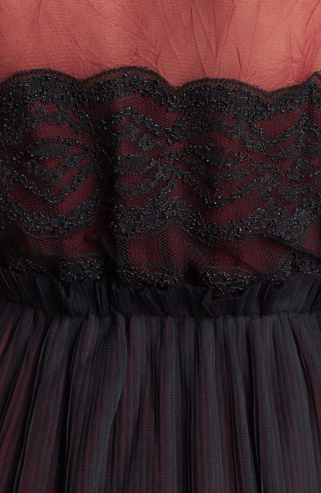 Alternate Image 3  - Black Swan Lace & Chiffon Dress