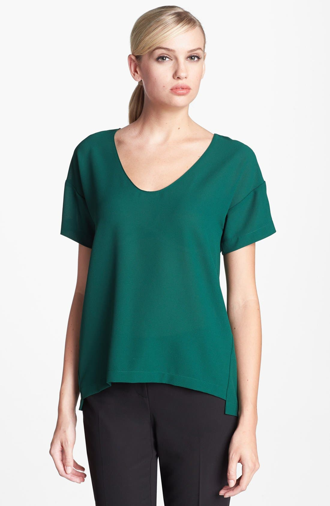 Alternate Image 1 Selected - Collective Concepts Chiffon Tee
