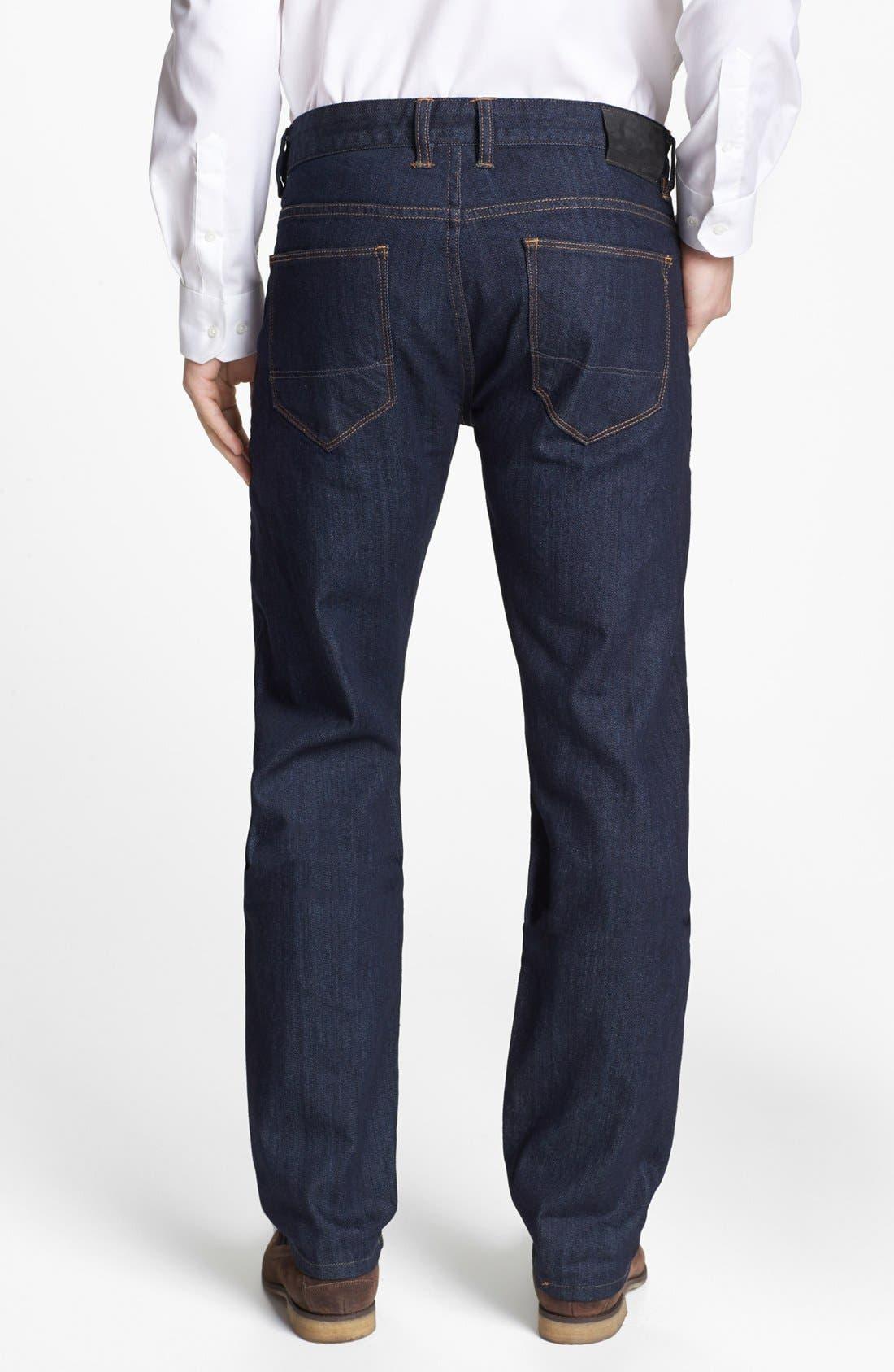 Alternate Image 2  - Tommy Bahama 'Walker' Straight Leg Jeans (Dark Storm)