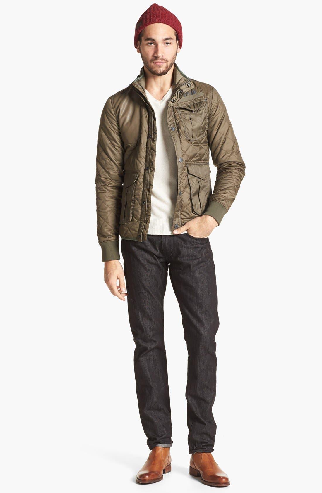 Alternate Image 5  - J Brand 'Tyler' Slim Fit Jeans (Black Raw)