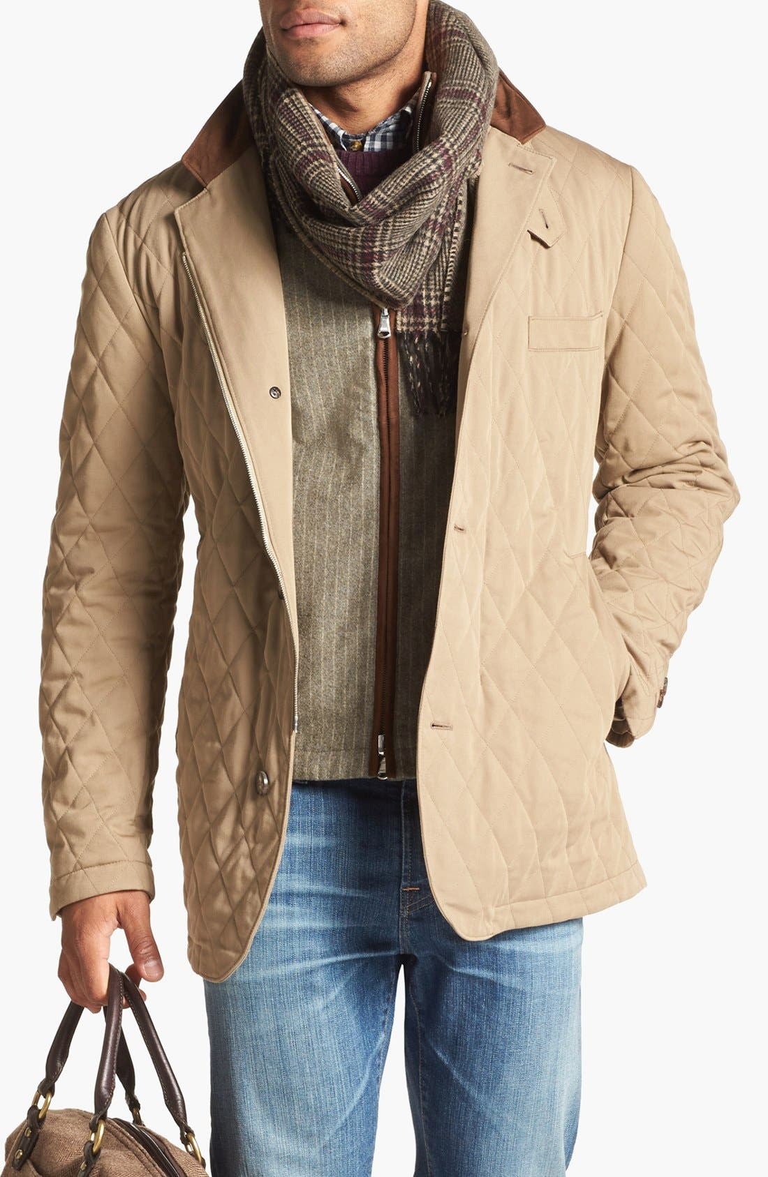 Alternate Image 1 Selected - Robert Talbott 3-in-1 Quilted Jacket