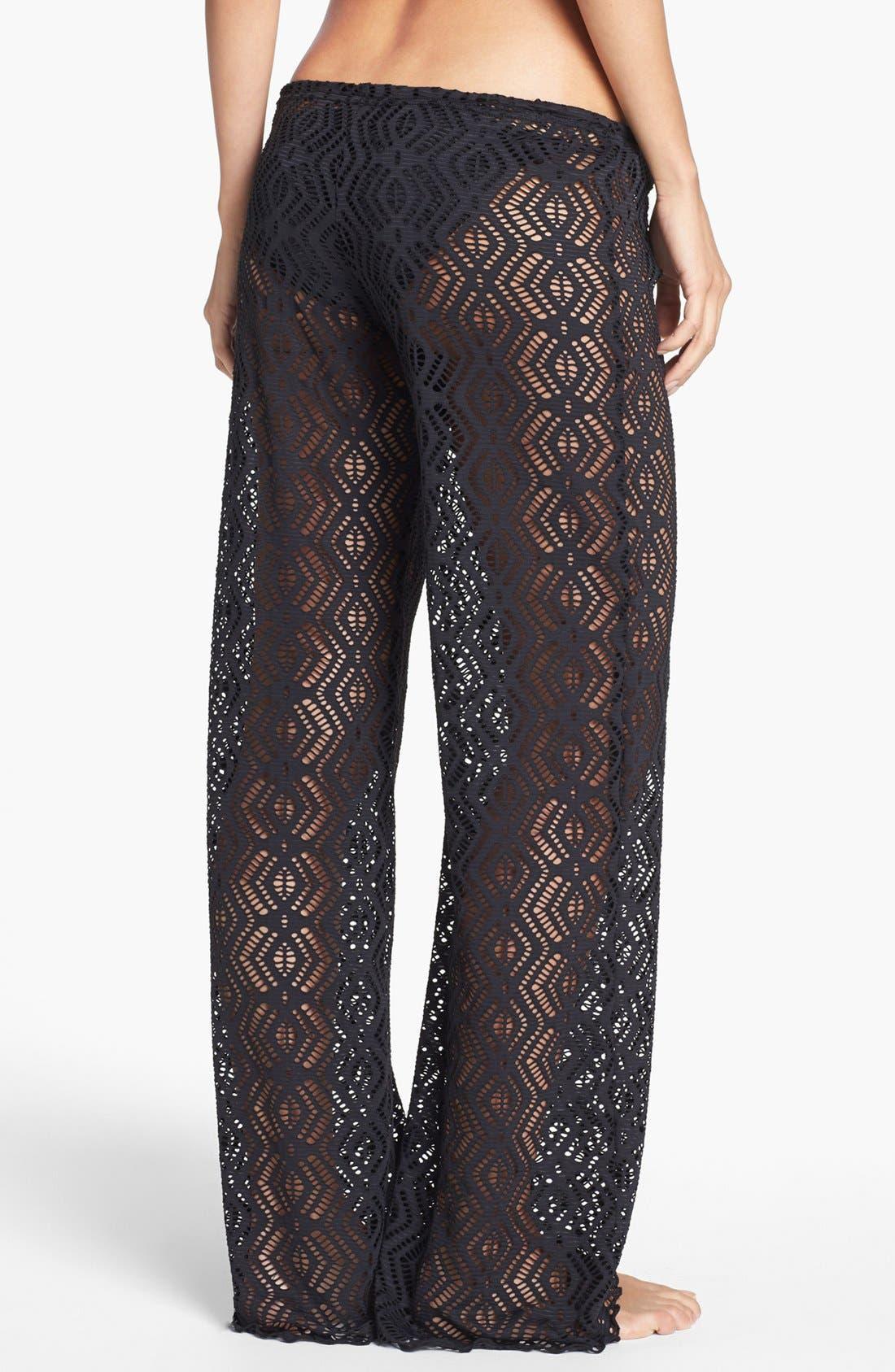 Alternate Image 2  - Becca Crochet Cover-Up Pants