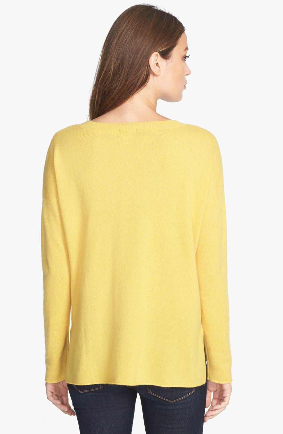 Alternate Image 2  - Pure Amici Cashmere Crewneck Sweater