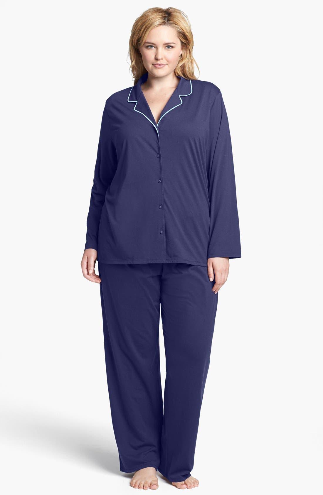 Alternate Image 1 Selected - Nordstrom 'Effortless' Pajamas (Plus Size)