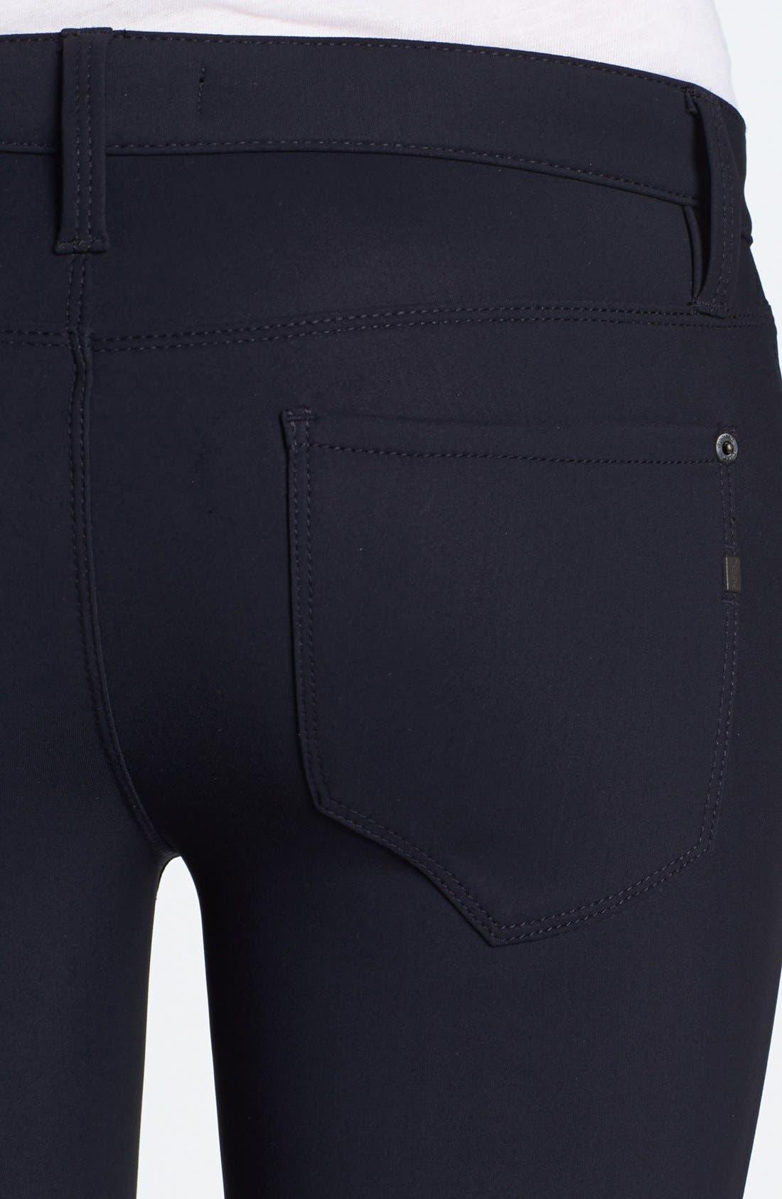 Alternate Image 3  - Genetic 'James' Neoprene Cigarette Jeans (Jet)