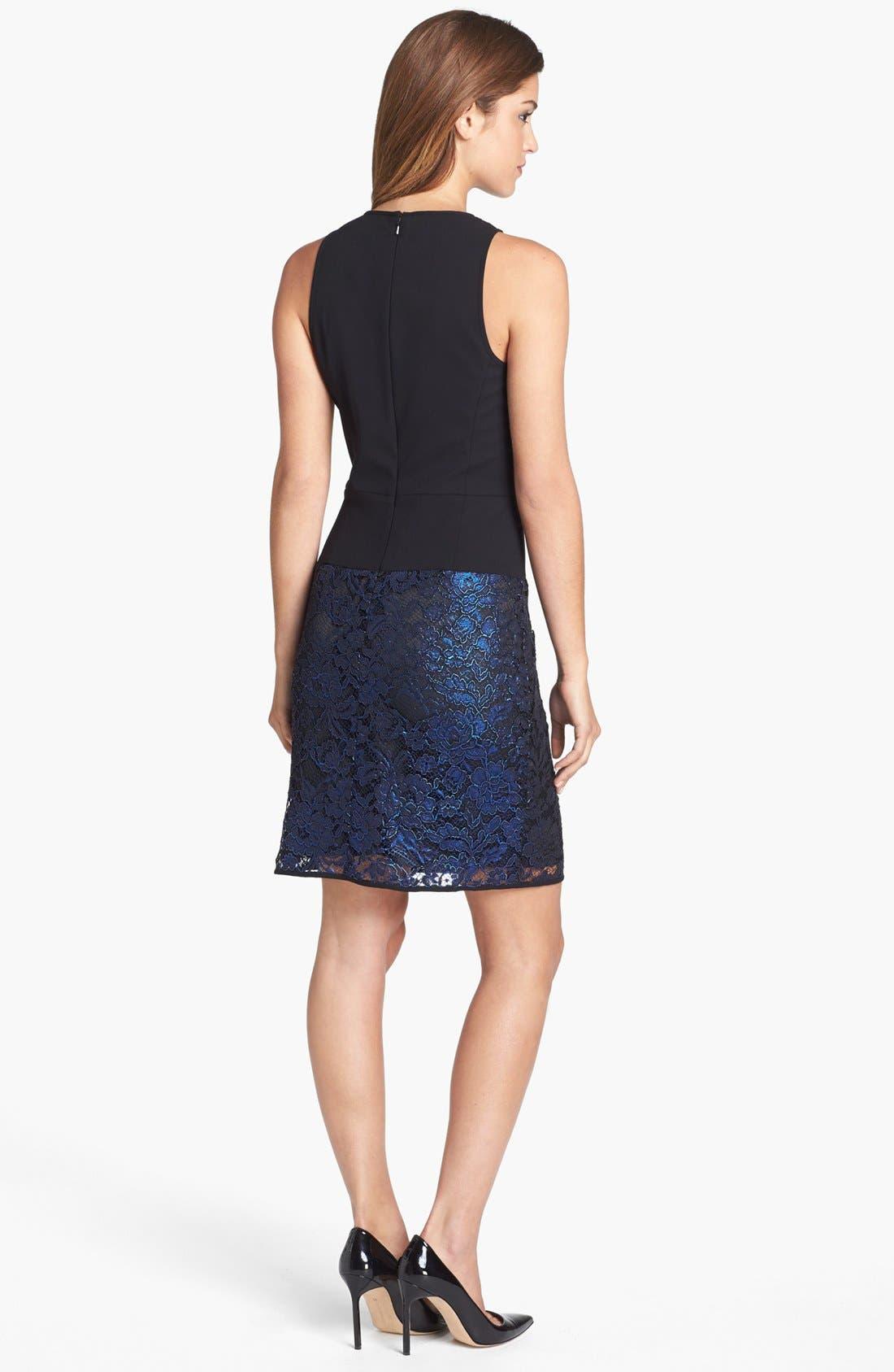 Alternate Image 2  - 4.collective Lace & Crepe Sheath Dress