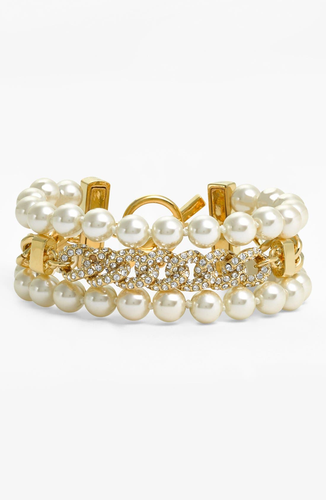 Main Image - Givenchy Glass Pearl & Chain Toggle Bracelet