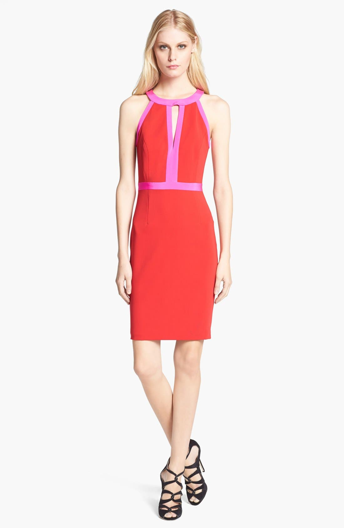 Main Image - Jay Godfrey 'Woodward' Contrast Trim Sheath Dress
