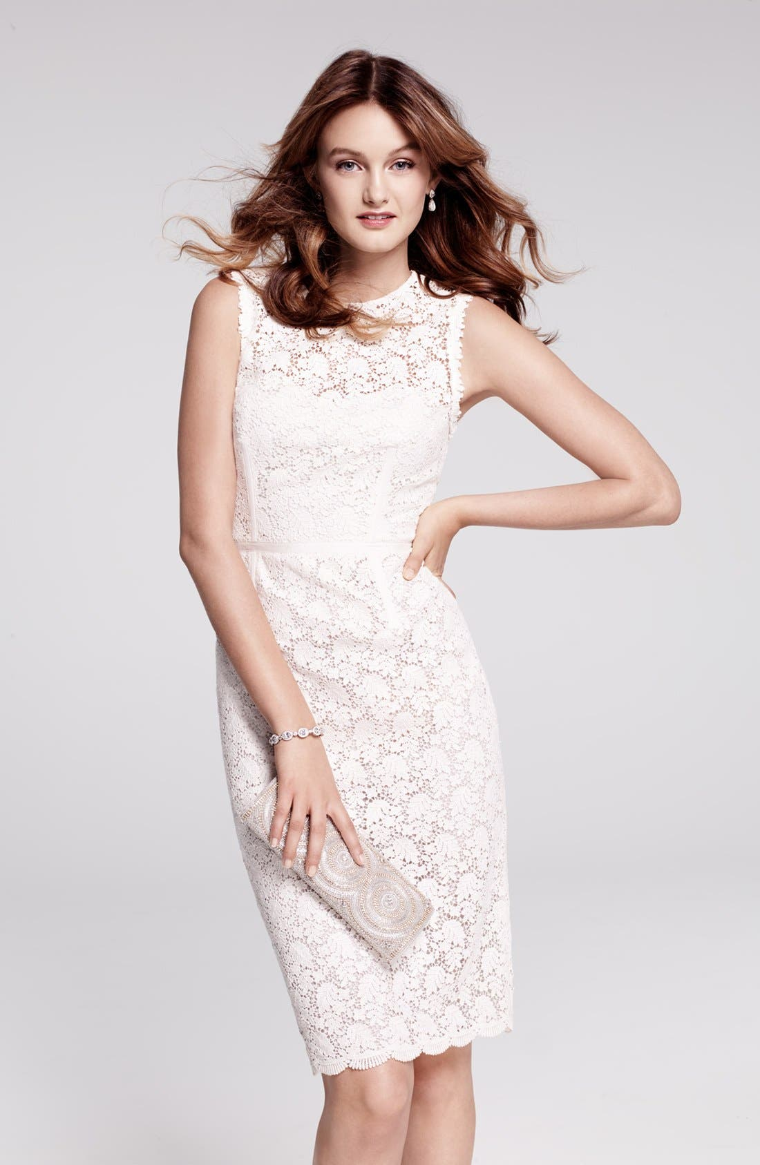 Alternate Image 2  - Jill Jill Stuart Illusion Yoke Lace Sheath Dress