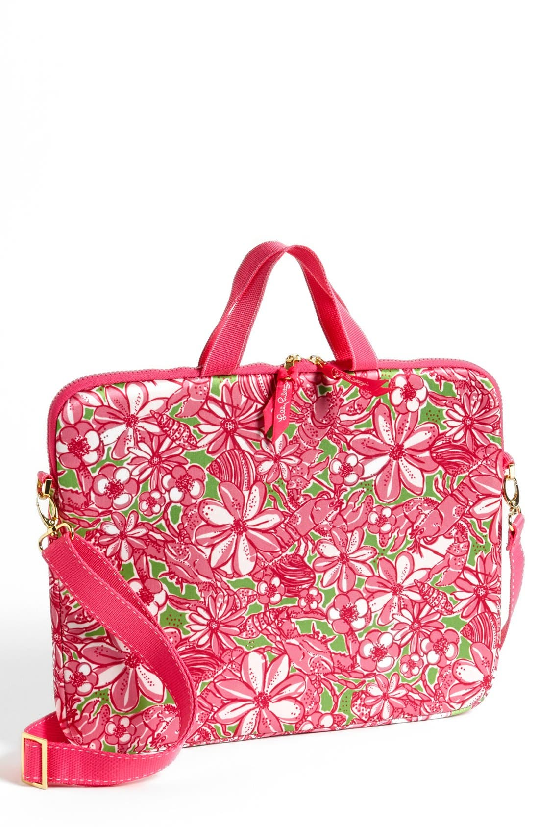 Alternate Image 1 Selected - Lilly Pulitzer® 'Coronado Crab' Laptop Tote
