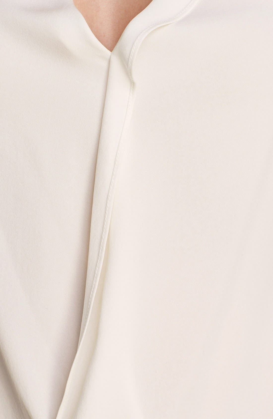 Alternate Image 3  - Theory 'Parlier' Silk & Stretch Cotton Blouse