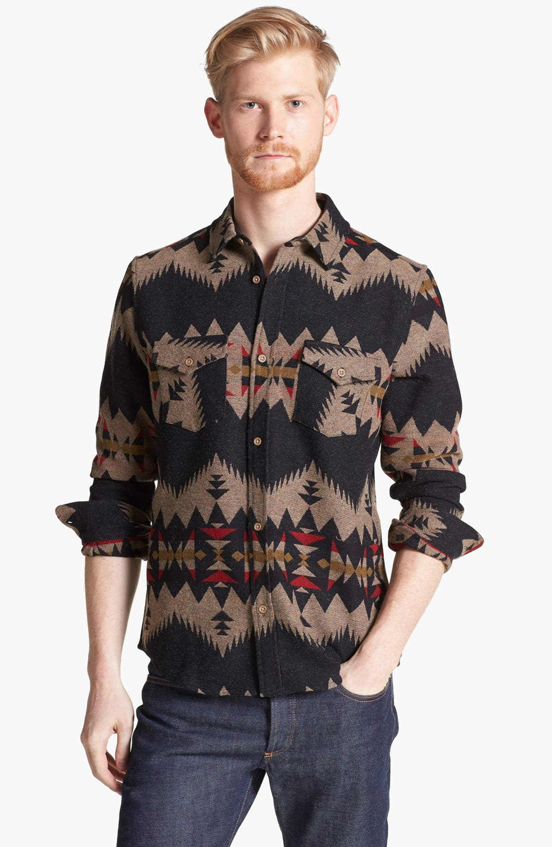 Alternate Image 1 Selected - Pendleton Portland Collection 'Government Camp' Wool Flannel Shirt