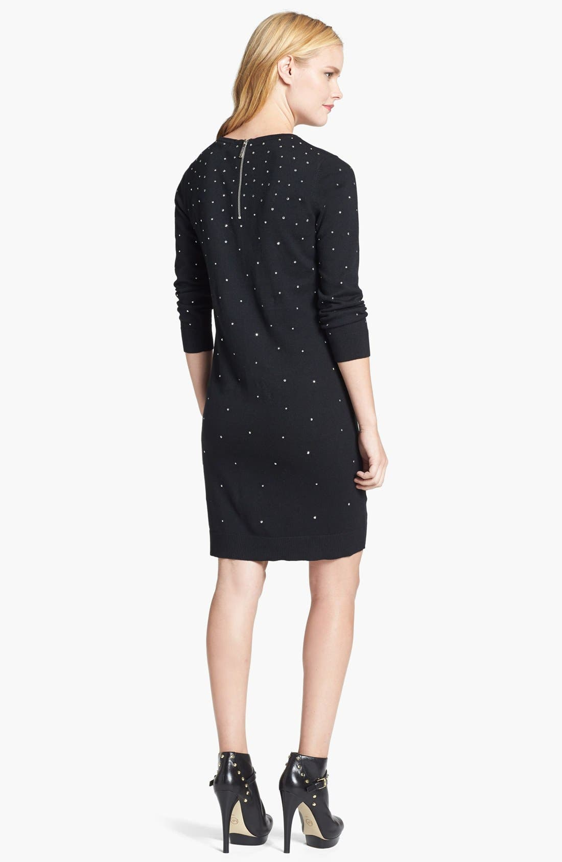 Alternate Image 2  - MICHAEL Michael Kors Studded Dress (Regular & Petite)