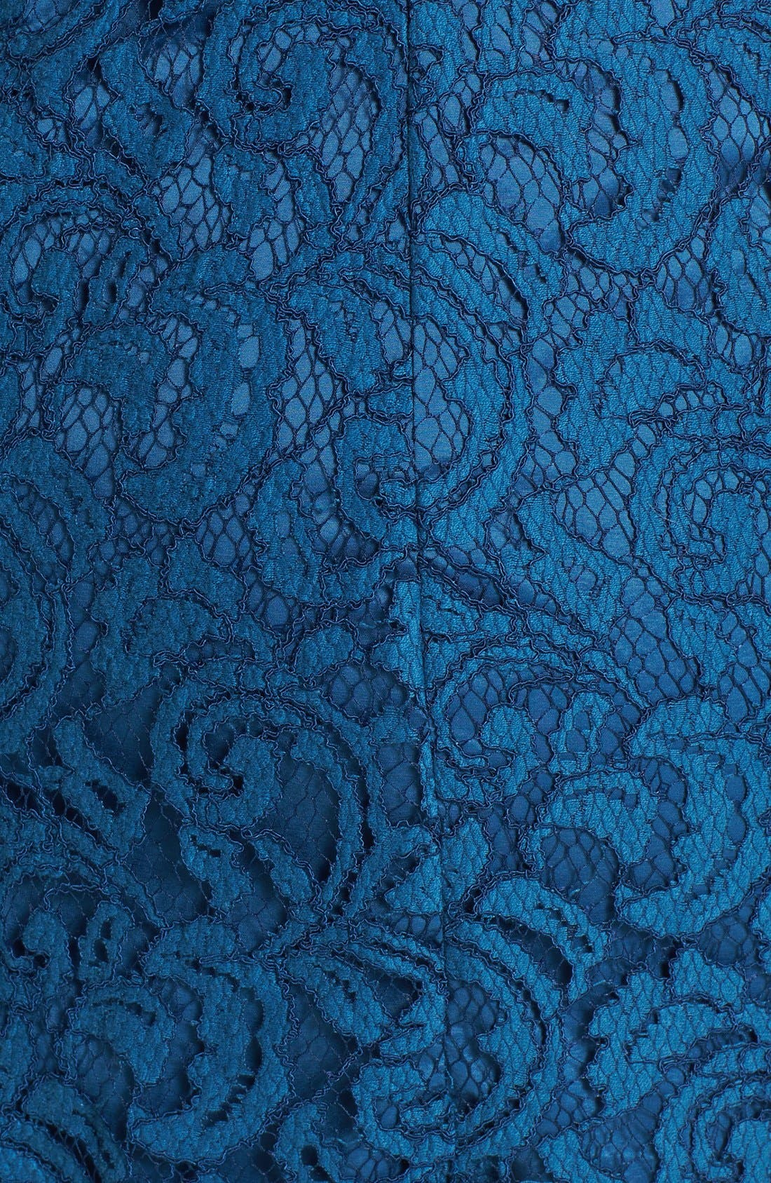 Alternate Image 3  - Adrianna Papell Ruffle Hem Lace Sheath Dress