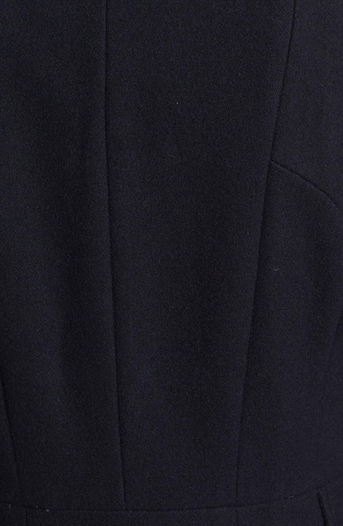 Alternate Image 3  - Via Spiga Double Breasted Wool Blend Military Coat
