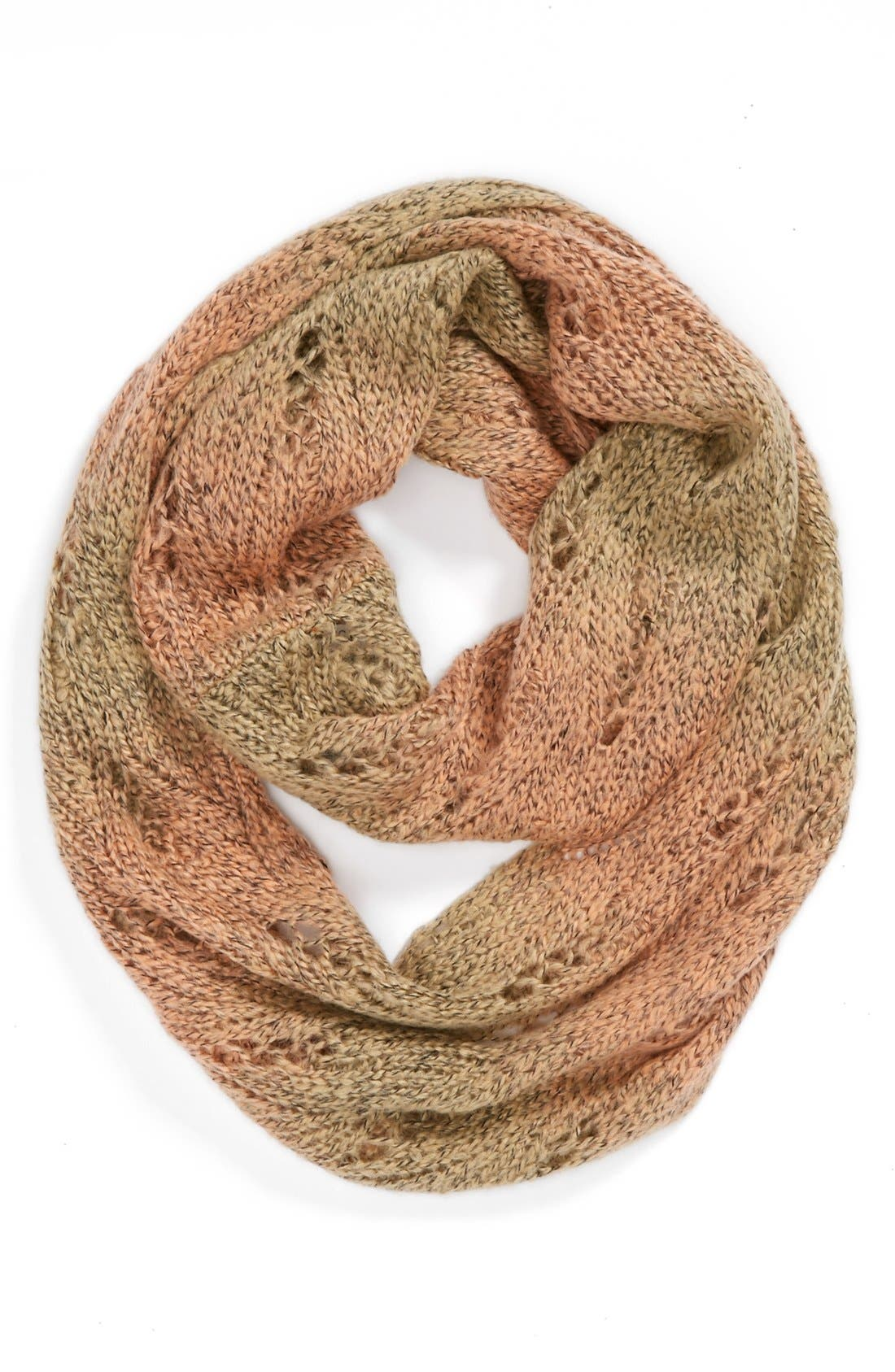 Alternate Image 1 Selected - David & Young Ombré Pointelle Infinity Scarf (Juniors) (Online Only)